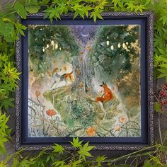 """The Strands that Bind"" . My #foxandthehound inspired pai ting that will be at @moderneden this month for the show #animationReimagined . I'll be at the opening tonight in #sanfrancisco ! . #fox #hound #art #artwork #sanfranciscoart #contemporaryart #beautifulbizarre #animalart #fairytales #animation"
