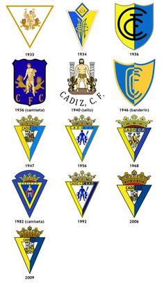 Cádiz CF Cadiz, Old Logo, Sports Clubs, Old And New, Evolution, Soccer Teams, Football, Logos, Image