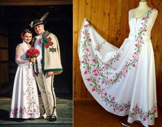 Growing trend: handpainted wedding dresses inspired by folklore of Polish… Different Wedding Dresses, Best Wedding Dresses, Wedding Gowns, Polish Wedding Traditions, Polish Embroidery, Groom And Groomsmen Attire, Traditional Wedding Dresses, Beautiful Gowns, Wedding Portraits