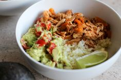 Even though I didn't love Whole30 as a whole, I loved creating new healthy recipes. This Chicken Taco Bowl is my new favorite weeknight meal!