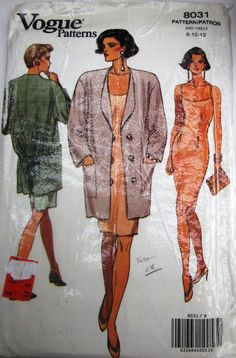 Vogue 8031 Womens Jacket and Dress Pattern UNCUT by Denisecraft, $6.99