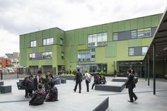 Completed in 2013 in London Borough of Tower Hamlets, United Kingdom. Images by Tim Crocker. In the final days of the BSF program and with a vastly reduced budget, this project brings transformational change to the school by delivering two...