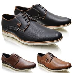 Mens Leather Slip On Formal Shoes 6 to 11 UK - BROGUE BUSINESS & CASUAL