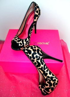 Leopard ladies high heels for summer