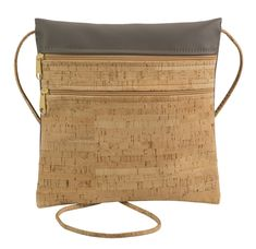 Lightweight and organizes all the daily essentials. Handmade from eco-friendly cork and faux leather. Mini Purse, Mini Bag, Cork Fabric, Black Lightning, Ipad Mini, Crossbody Bag, Reusable Tote Bags, Zipper, Purses