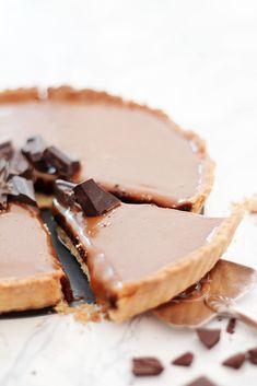 ... chocolate caramel tart ...