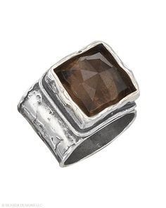 Silpada Sterling Silver & Smoky Quartz Ring, this is one of my fav Silpada rings ever, Heather