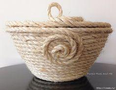 DIY como hacer un cesto de cuerdacon tapa Aprende con este DIY como hacer paso a paso un bonito y útil cesto con tapa muy decorativo con cuerda. Puedes hacerlo en muchos tamaños, Ideal para guarda…