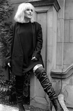 Debbie Harry in thigh-high boots
