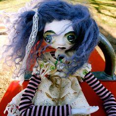 Whimsical Art Doll Violet via Etsy.