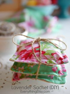 Lavender Sachets are one of my all-time favorite DIY gifts! I sold them for years in my Etsy shop and it's still fun to create new sachets with designer fabric that suits my mood or a special occas