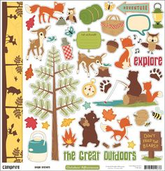 Discover fun products and helpful ideas for scrapbooking the great outdoors. Craft Stickers, Scrapbook Stickers, Scrapbook Supplies, Planner Stickers, Scrapbook Paper, Scrapbooking, Dont Feed The Bears, Project Life Freebies, Kiwi Lane Designs
