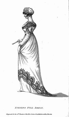 The Regency World of Lesley-Anne McLeod - Fashions of Regency England Colouring Book: 1815 evening gown, turban and fan