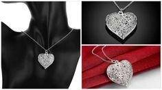 Argento Sterling 925 Silver Collana Cuore pendente in Orologi e gioielli…