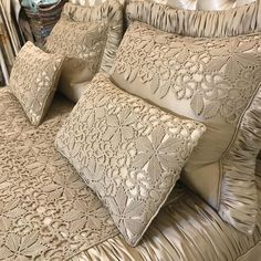 [New] The Best Home Decor (with Pictures) These are the 10 best home decor today. According to home decor experts, the 10 all-time best home decor. Sequin Bedding, Lace Bedding, Bedding Sets, Crochet Bedspread Pattern, Crochet Cushions, Draps Design, Designer Bed Sheets, Cushion Cover Designs, Luxury Bedding Collections