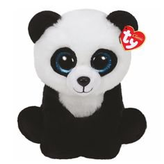 "<P>Your favorite cuddly friend in a bigger size. Ming the panda is a cute plush black and white panda with big blue glittery eyes. Part of the Ty Beanie Boos collection. Collect them all! </P><UL><LI>Suitable for children aged 3+ <LI>H 22cm/9""</LI></UL>"