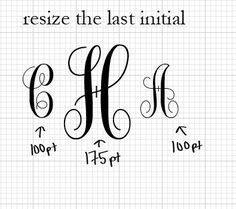 Fabulous information to know!! How to make monograms in Word, Paint or any other Word Processing program!