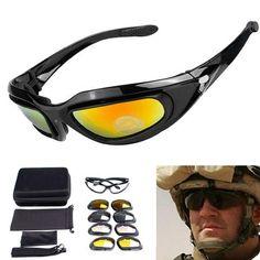 ed4775d9d6a1 C5 Military Goggles 4 Lenses Outdoor Sports Sunglasses Sports Sunglasses