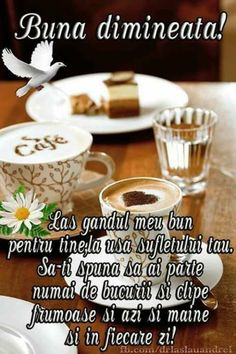 Imagini buni dimineata si o zi frumoasa pentru tine! - BunaDimineataImagini.ro Romantic Couple Hug, Romantic Couples, Morning Coffe, Good Morning, Messages, Veronica, Happy, Maine, Sign