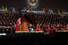 #MaudeBarlow addresses the #YorkU #convocation.