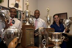 L to R Cecil Blutcher, Jacoby Cochran, Camille Yameen, 2012 National Champions
