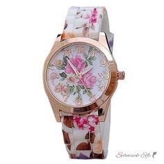 Armbanduhr Rosen Blüten Rosegold