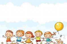 Buy Happy Kids Running Outdoors by katya_dav on GraphicRiver. Happy cartoon kids running outdoors on a summer day Happy Cartoon, Cartoon Kids, Diy And Crafts, Crafts For Kids, Presentation Backgrounds, Kids Background, Kids Running, Stick Figures, Happy Kids