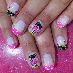 decoracion de uñas Crazy Nails, Fancy Nails, Love Nails, Pretty Nails, Spring Nail Art, Spring Nails, Different Types Of Nails, Feet Nails, Girls Nails