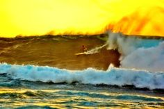 Surfing in Makaha by annamarie808