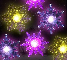 Snowflake Color Changing Led Lights Set of 6 Snowflakes with Suction Cups Attached to Back for Hanging in a Window Acrylic 4 Inch