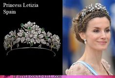 Princess Letizia - Spain Yes. I need a tiara. Royal Crown Jewels, Royal Crowns, Royal Tiaras, Royal Jewelry, Tiaras And Crowns, Jewellery, Princess Of Spain, Prince And Princess, Adele