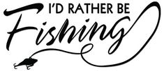 I'd Rather Be Fishing Vinyl Decal Sticker For Vehicle Car Truck Window Bumper Wall Decor - [6 inch/15 cm Wide] - Gloss PINK Color Stickeeze http://www.amazon.com/dp/B01CACXS90/ref=cm_sw_r_pi_dp_XH89wb0SZK9G3