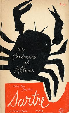 The Condemned of Altona by Jean Paul Sartre. Vintage Books, Cover design by Paul Rand Best Book Covers, Vintage Book Covers, Beautiful Book Covers, Vintage Books, Book Cover Design, Book Design, Pretty Things, Abstract Illustration, Silkscreen