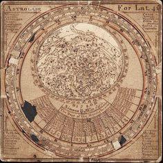 El cosmos en miniatura, un fascinante mapa celeste (Simeon De Witt, 1780)