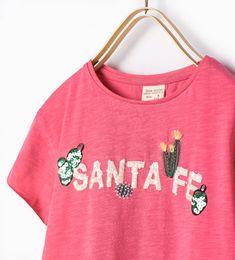 "Image 3 of ""Santa Fe"" cactus T-shirt from Zara"