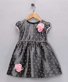 Take a look at this Gray & Pink Polka Dot Glen Dress - Infant, Toddler & Girls by Joe-Ella on #zulily today!