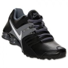 Tênis Nike Shox Men's Current Running Shoes Black White Dark Grey 633631 010 #Tênis #Nike Shox