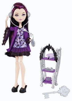 Happily Ever After High Getting Fairest Raven Queen Doll by Mattel, Girls Yr - Other Raven Queen Doll, Triste Disney, Mattel Shop, Ever After Dolls, Chica Cool, Black Slippers, Queen Fashion, High Fashion, Monster High Dolls