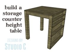 DIY Plans to Build a Storage Counter Height Table This is one of those tables that can serve so many purposes – as extra seating for holiday entertaining or a dinner party, as a craft table, …