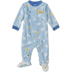 3-6 month Footie pajamas. Prefer the ones that zip but what ever is good - Child of Mine by Carters Newborn Boys'  Polar Bear Sleep n Play