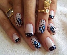 New Butterfly Nail Art Design for Teen Girls