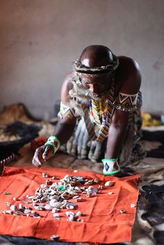Zulu Medicine Man reading bones | Flickr - Photo Sharing!