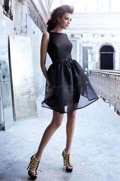 Rechteck Mittelgröße A Linie kurzes glamouröses & dramatisches ärmelloses simples Homecoming/ Cocktailkleid