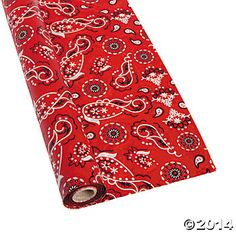 Bandana Tablecloth Roll, Table Covers, Party Tableware, Party Supplies - Oriental Trading