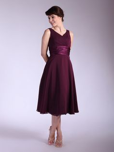Pleated Bodice Chiffon Bridesmaid Dress | Up to 15% off, plus FREE Custom Made! 10+ measurements required for a perfect fit, no matter what sizes you are in!