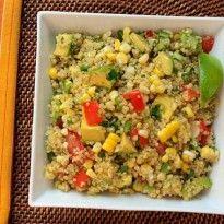 Southwestern Quinoa Salad with Corn, Tomatoes, Avocado & Lime