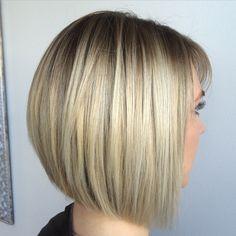"<span class=""emoji emoji2764""></span>️Love @daniela_la_la_la_la 's stylecut and colour #hairbylena #goldcoasthairsalon #bob #texture #btcpics ... Blonde Graduated Bob, Graduated Bob Hairstyles, Short Bob Hairstyles, Blonde Balayage, Blonde Ombre, Blonde Hair, Short Hair Cuts, Short Hair Styles, Hair Creations"