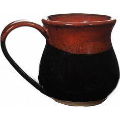 Small Red On Black 10 Oz. Mug