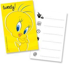 Tweety invitation cards : Vegaoo Decorations