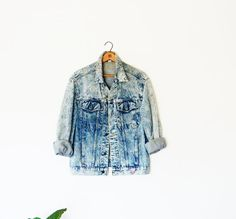 80s Acid Wash Jean Jacket/Unisex Jacket by Georges Marciano for Guess/Vintage Acid Wash Jean Jacket